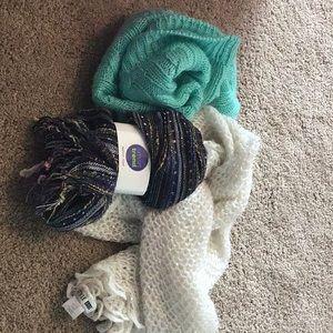 3 scarfs